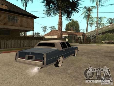 Cadillac Fleetwood Brougham 1985 pour GTA San Andreas vue de droite