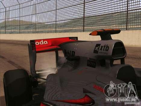 McLaren MP4-25 F1 pour GTA San Andreas vue arrière