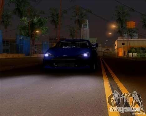 Subaru BRZ Stance pour GTA San Andreas vue arrière