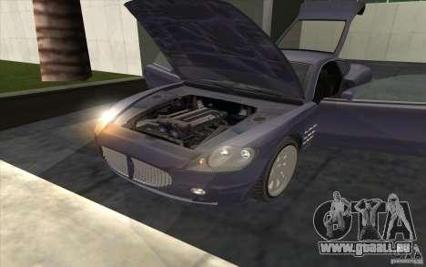 F620 de GTA TBoGT pour GTA San Andreas sur la vue arrière gauche