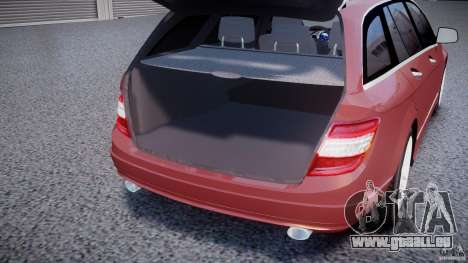 Mercedes-Benz C 280 T-Modell/Estate pour GTA 4 vue de dessus