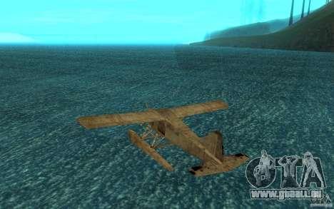 De Havilliand Beaver DHC2 für GTA San Andreas rechten Ansicht