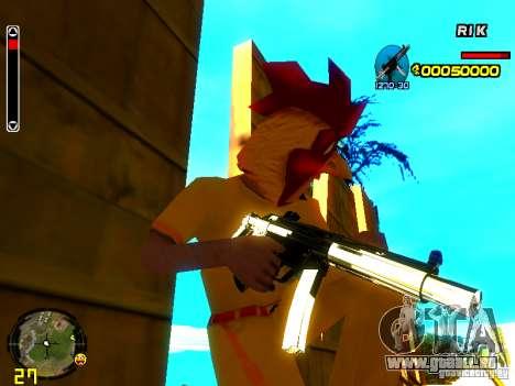 White Chrome Guns für GTA San Andreas dritten Screenshot