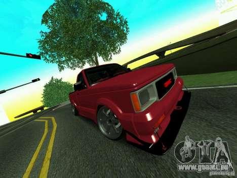 GMC Syclone Drift pour GTA San Andreas vue intérieure