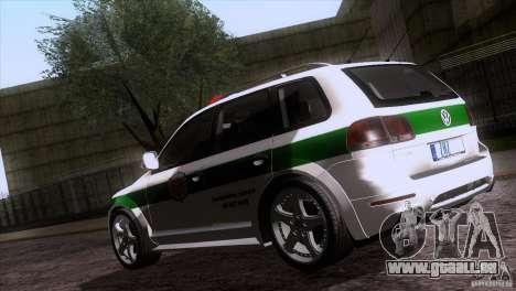 Volkswagen Touareg Policija für GTA San Andreas Seitenansicht
