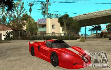 Ferrari FXX 2005 pour GTA San Andreas vue intérieure