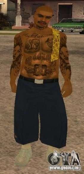 Nouveaux skins Gang de Vagos pour GTA San Andreas