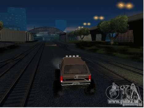 Ford Bronco IV Monster für GTA San Andreas Rückansicht