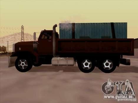 New Flatbed pour GTA San Andreas vue intérieure