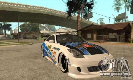 Nissan Z350 - Tuning pour GTA San Andreas vue arrière