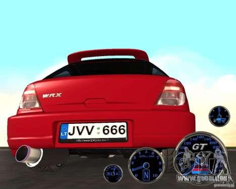 Subaru Impreza Universal pour GTA San Andreas vue de droite