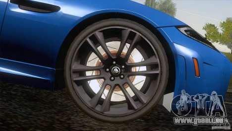 Jaguar XKR-S 2011 V1.0 für GTA San Andreas Räder