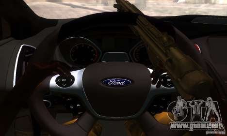 Ford Focus 3 für GTA San Andreas Rückansicht