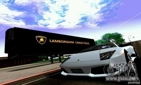 Lamborghini Cargo Truck pour GTA San Andreas vue intérieure