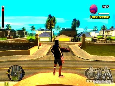 Peau bum v8 pour GTA San Andreas deuxième écran