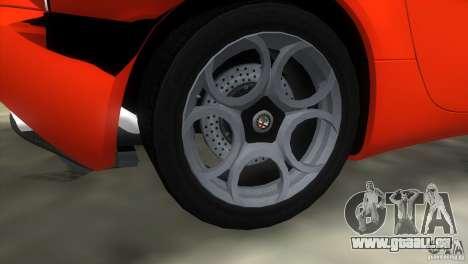 Alfa Romeo 8C Competizione für GTA Vice City Innenansicht