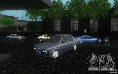 BMW E28 525e ShadowLine Stock pour GTA San Andreas vue arrière
