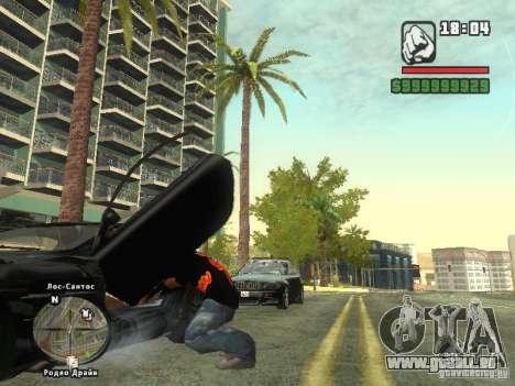 LE T-shirt MIZ pour GTA San Andreas troisième écran