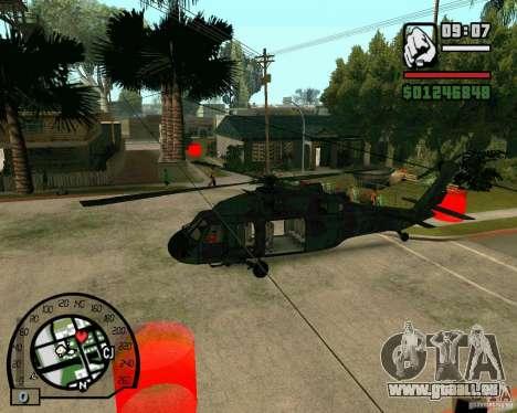 Blackhawk UH60 Heli für GTA San Andreas