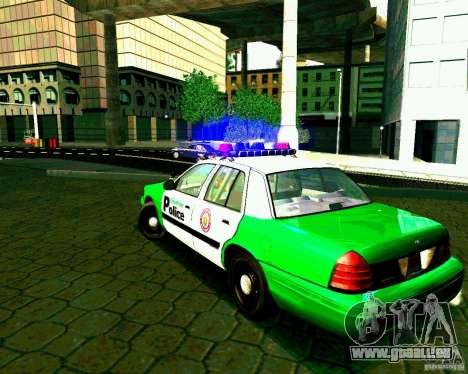 Ford Crown Victoria 2003 Police Interceptor VCPD pour GTA San Andreas sur la vue arrière gauche