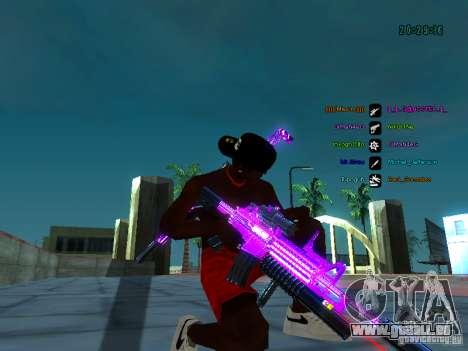 Purple chrome sur armes pour GTA San Andreas cinquième écran