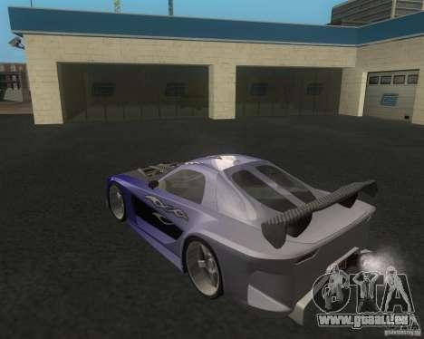 Mazda RX-7 Veilside Fortune pour GTA San Andreas sur la vue arrière gauche