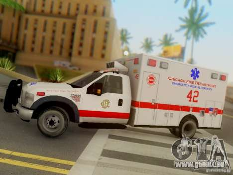 Ford F350 Super Duty Chicago Fire Department EMS für GTA San Andreas Innenansicht