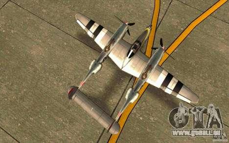 P38 Lightning für GTA San Andreas rechten Ansicht