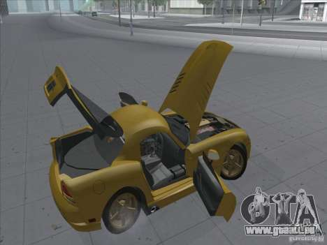 Dodge Viper SRT-10 (or Viper) pour GTA San Andreas vue arrière