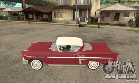 Chevrolet Impala 1958 pour GTA San Andreas laissé vue