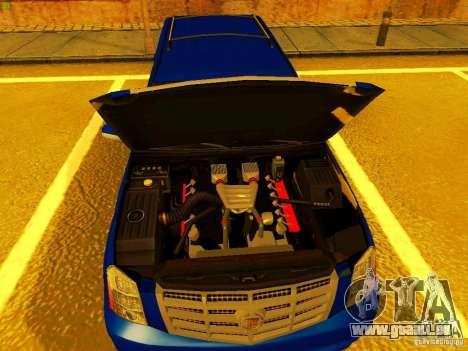 Cadillac Escalade für GTA San Andreas obere Ansicht
