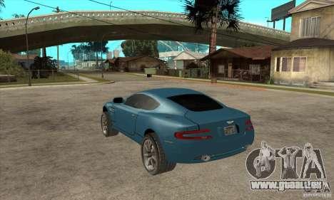 Aston Martin DB9 de NFS MW pour GTA San Andreas sur la vue arrière gauche