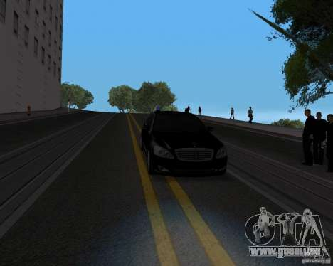 Mercedes Benz S500 w221 SE für GTA San Andreas Rückansicht