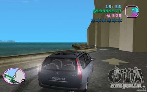 Citroen C8 pour GTA Vice City sur la vue arrière gauche