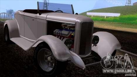 Ford Roadster 1932 pour GTA San Andreas vue arrière
