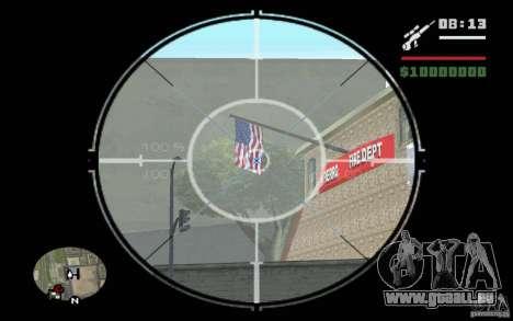 Sniper mod v 1. pour GTA San Andreas deuxième écran