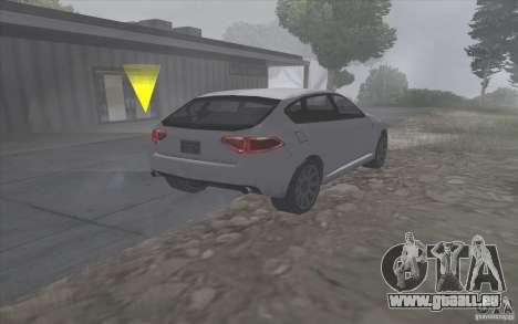 SA Subaru Impreza-style pour GTA San Andreas sur la vue arrière gauche