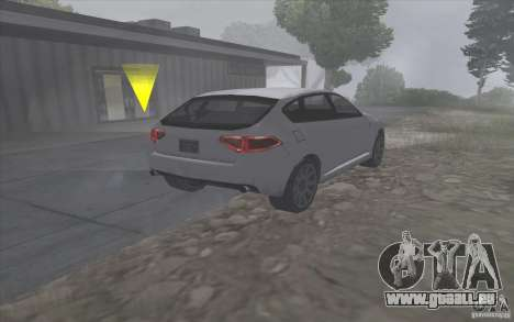 Subaru Impreza-Stil SA für GTA San Andreas zurück linke Ansicht