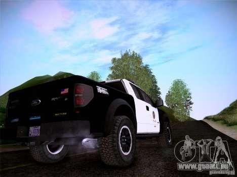 Ford Raptor Police für GTA San Andreas Seitenansicht