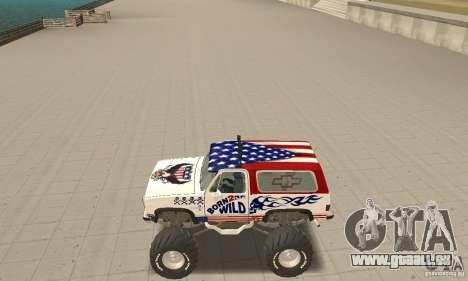 Chevrolet Blazer K5 Monster Skin 7 pour GTA San Andreas