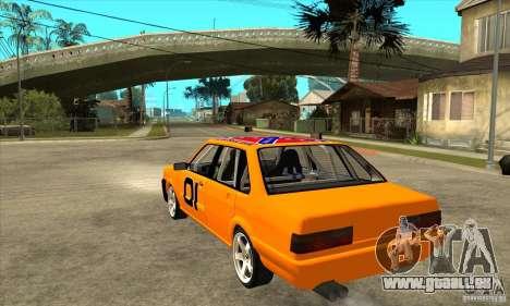 Audi 80 für GTA San Andreas zurück linke Ansicht