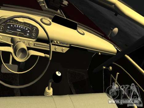 Plymouth Savoy Club Sedan 1957 Dragster Final pour GTA 4 vue de dessus