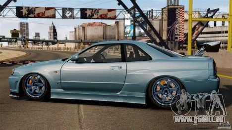 Nissan Skyline GT-R (BNR34) 2002 pour GTA 4 est une gauche