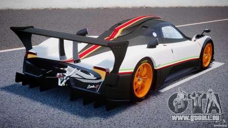 Pagani Zonda R 2009 Italian Stripes für GTA 4 Seitenansicht