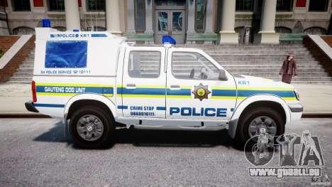 Nissan Frontier Essex Police Unit pour GTA 4 est une vue de l'intérieur
