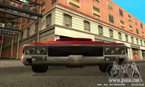 Sabre Drift für GTA San Andreas Rückansicht