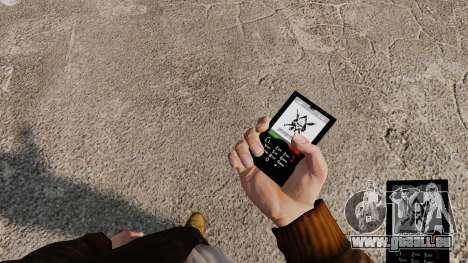 Le thème de Mercenaries 2 pour les téléphones mo pour GTA 4 secondes d'écran