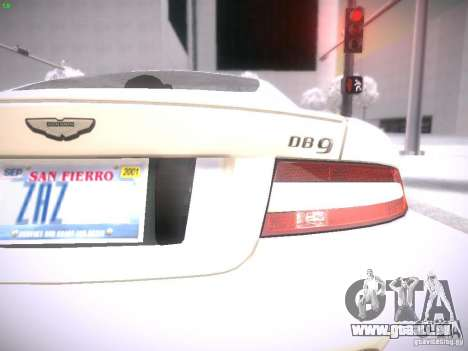 Aston Martn DB9 2008 pour GTA San Andreas vue de droite
