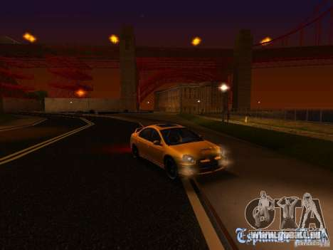 Dodge Neon SRT4 2006 pour GTA San Andreas vue de dessus