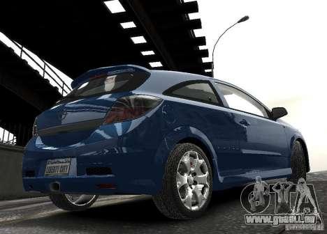 Opel Astra OPC pour GTA 4 est une vue de l'intérieur